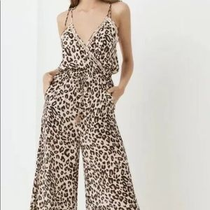 Spell gypsy bodhi leopard jumpsuit s NWT